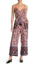 Band of Gypsies Lennox Printed Drawstring Jumpsuit