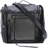 McQ 'Loveless' 69 studded mini convertible box bag