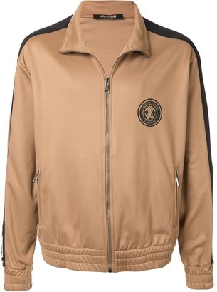 Roberto Cavalli Logo Print Zip-Up Jacket