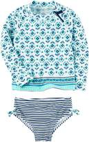 Carter's Baby Girls' Paisley Rashguard Set