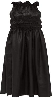 Romance Was Born Opera Ruched-waist Taffeta Maxi Skirt - Black