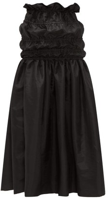 Romance Was Born Opera Ruched-waist Taffeta Maxi Skirt - Womens - Black