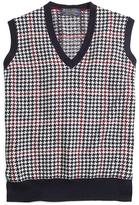 Brooks Brothers Cashmere Houndstooth Vest