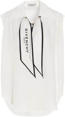 Givenchy Logo Scarf Sleeveless Blouse