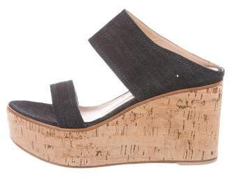 Gianvito Rossi Cork Wedge Sandals