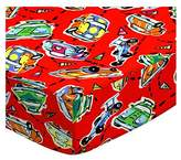 SheetWorld Fitted Square Playard Sheet (Fits Joovy) - Race Cars - Made In USA - 37.5 inches x 37.5 inches (95.25 cm x 95.25 cm)