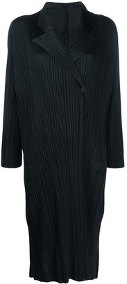 Pleats Please Issey Miyake Pleated Long Line Coat