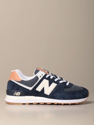 New Balance 574 Sneakers In Suede And Knit