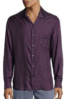 Brioni Pindot Silk Sportshirt