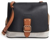Burberry 'Small Shellwood' Canvas & Leather Crossbody Bag - Black