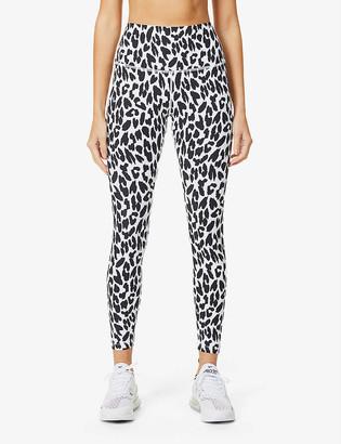 Lorna Jane Lynx Excel animal-print 7/8 stretch-jersey leggings