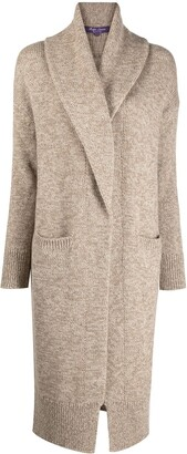 Ralph Lauren Purple Label Intarsia-Knit Cashmere Cardi-Coat