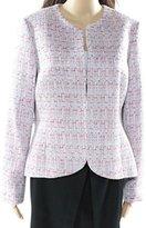 Anne Klein Women's Collarless Tulip Bergman Jacket