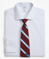 Brooks Brothers Regent Fitted Dress Shirt, Non-Iron Two-Tone Windowpane