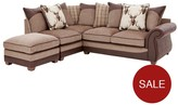 Arran Left-Hand Corner Chaise Sofa With Matching Footstool