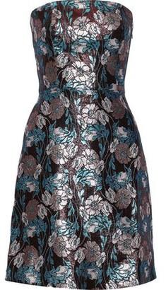 Sachin + Babi Mirelle Strapless Brocade Mini Dress