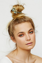 Kitsch for Free People Womens DECO WING BUN CUFF