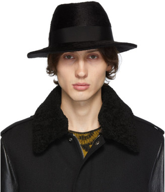 Saint Laurent Black Felt Fedora