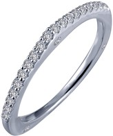 Lafonn Micro Pave Simulated Diamond Sterling Silver Wedding Ring - 0.26 ctw
