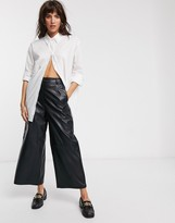 Weekday Edyn organic cotton classic poplin shirt in white