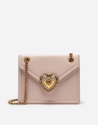 Dolce & Gabbana Medium Devotion Bag In Smooth Calfskin Leather