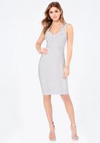 Bebe 3 Strap Midi Bandage Dress