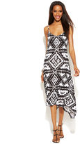 INC International Concepts Printed Rhinestone-Embellished Dress