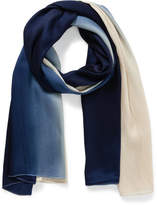 The Two Mrs Grenvilles NAVY/NAT OMBRE SCARF