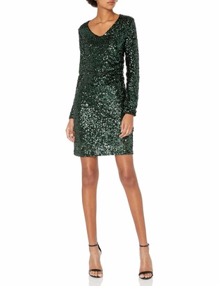 Vero Moda Women's Madison Sequin Long Sleeve Dress