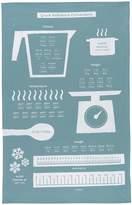 Now Designs Cotton Kitchen Towel, Cooks Guide Print