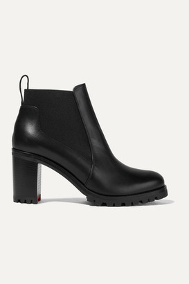 Christian Louboutin Marchacroche 70 Leather Ankle Boots - Black