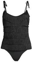 Thumbnail for your product : Stella McCartney Swim Fringe Front One-Piece Swimsuit