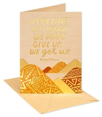 """Carlton Cards """"Don't Give Up"""" Thinking of You Landscape With Patterns Greeting Card"""