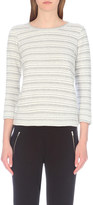 The White Company Loop-back striped cotton-jersey sweatshirt