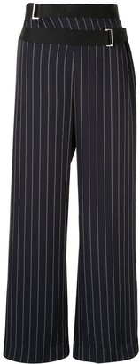 Dion Lee Pinstriped Wide-Leg Trousers