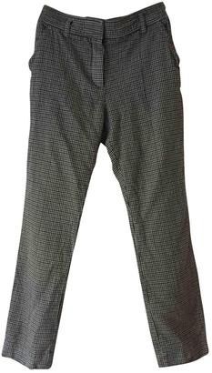 Louis Vuitton Grey Wool Trousers for Women