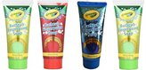 Crayola Children's Bathtub Fingerpaint Soap Assorted Colors, 6 Fl Oz Tubes (Pack of 4)