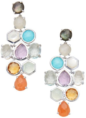 Ippolita Rock Candy Sterling Silver & Mixed-Stone Cascade Drop Earrings