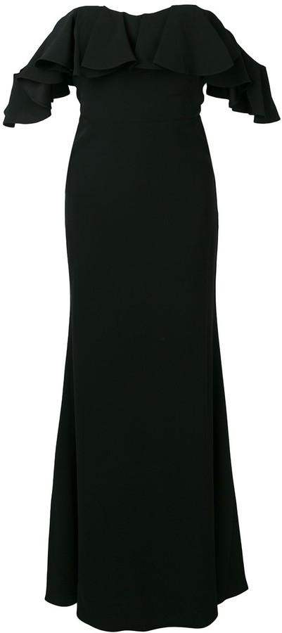 Alexander McQueen Dropped Sleeves Evening Dress