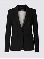 M&S Collection 1 Button Longline Jacket