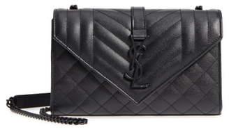 Saint Laurent Small Cassandre Leather Shoulder Bag