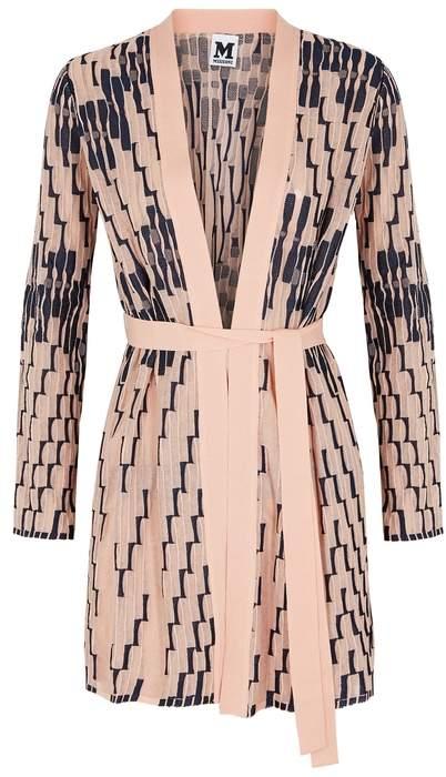M Missoni Pink Textured Fine-knit Cardigan