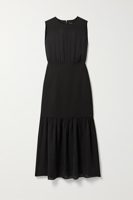 Theory Silk-crepe Midi Dress - Black