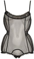 Chantal Thomass Craquante Swiss Dot Tulle Bodysuit