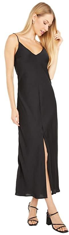 Free People Smoke Mirrors Maxi Slip Dress (Black) Women's Dress