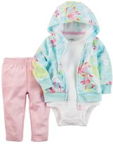 Carter's Baby Girl Tropical Sweatshirt, Bodysuit & Leggings Set