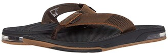 Reef Leather Fanning Low (Dark Brown) Men's Shoes