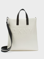DKNY Neoprene Bonded Lamb Nappa Leather Tote