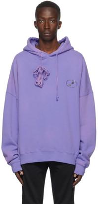 we11done Purple Iridescent Logo Hoodie