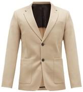 Ami Single-breasted Virgin-wool Serge Suit Jacket - Mens - Beige